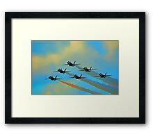 Beautiful Blue Angels Art Framed Print