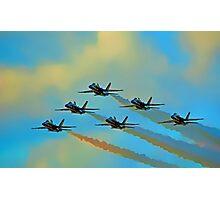 Beautiful Blue Angels Art Photographic Print