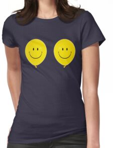 Happy Face Balloon All Smiles Womens Fitted T-Shirt