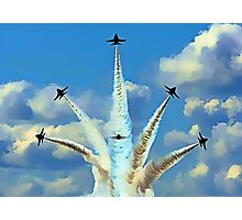 Aerial Acrobatics by the Blue Angels Photographic Print