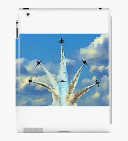 Aerial Acrobatics by the Blue Angels iPad Case/Skin