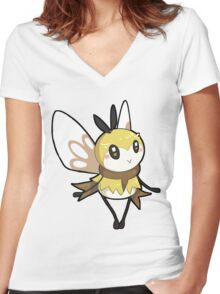 ribombee Women's Fitted V-Neck T-Shirt