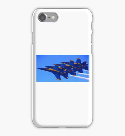 Blue Streaks iPhone Case/Skin