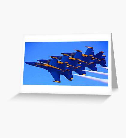 Blue Streaks Greeting Card