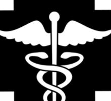 Black Medical Cross Sticker