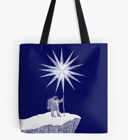 Old Man Winter Hermit and North Star Tote Bag