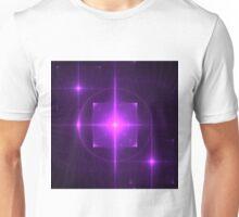 Purple Chakra Charging   Fractal Art Unisex T-Shirt