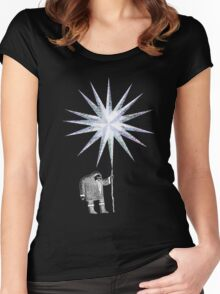 Old Man Winter Hermit and North Star Women's Fitted Scoop T-Shirt