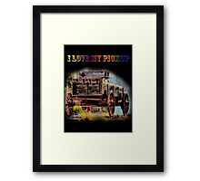 I Love My Pickup (Black) Framed Print