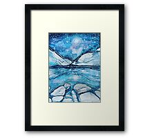 Rockies on a Starry Night Framed Print