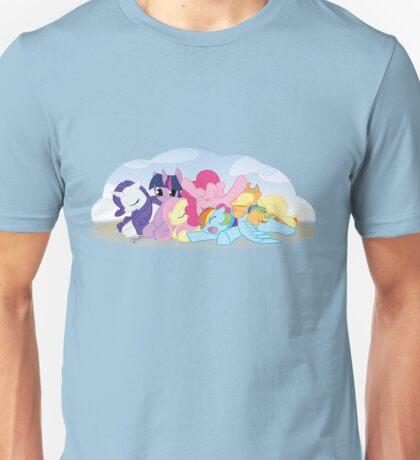 Sleepy Ponies with Background Unisex T-Shirt