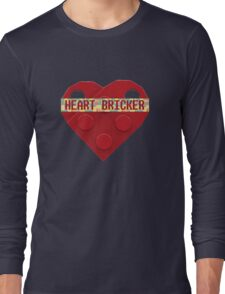 Valentines Day Toy Brick Heart Valentines Charm For Boys Red Long Sleeve T-Shirt