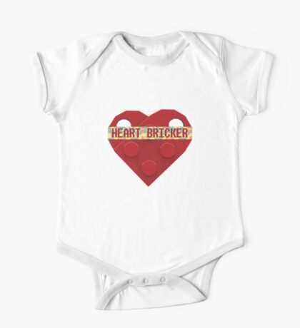 Valentines Day Toy Brick Heart Valentines Charm For Boys Red One Piece - Short Sleeve