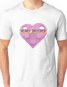 Valentines Day Toy Brick Heart Valentines Charm For Girls Pink Unisex T-Shirt