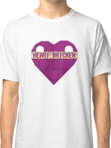 Valentines Day Toy Brick Heart Valentines Charm For Girls Magenta Classic T-Shirt
