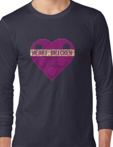 Valentines Day Toy Brick Heart Valentines Charm For Girls Magenta Long Sleeve T-Shirt