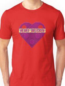 Valentines Day Toy Brick Heart Valentines Charm For Girls Magenta Unisex T-Shirt