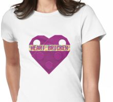 Valentines Day Toy Brick Heart Valentines Charm For Girls Magenta Womens Fitted T-Shirt