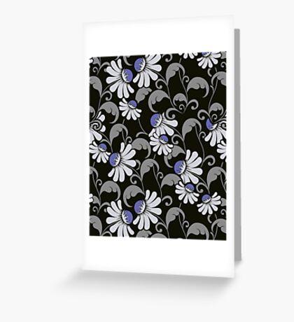 Floral Nights - Cute Floral Pattern Greeting Card