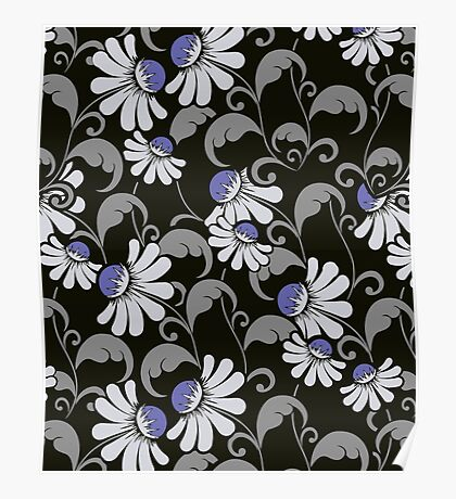 Floral Nights - Cute Floral Pattern Poster