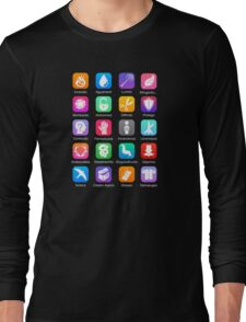 Potter Spell Icons Long Sleeve T-Shirt