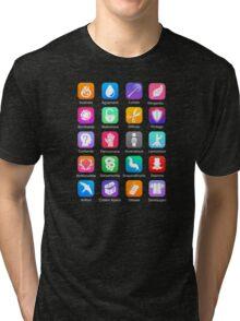 Potter Spell Icons Tri-blend T-Shirt