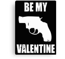 Valentine Under The Gun Canvas Print