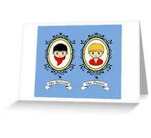 Arthur and Merlin Double Frames Greeting Card
