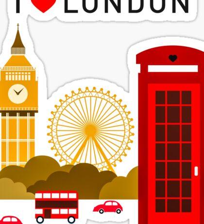 I Love London Sticker