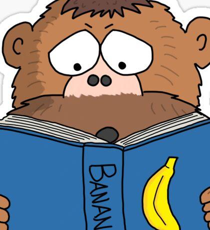 Grumpy Monkey Reading a Book Sticker