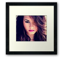 Demi Lovato Beauty Face Framed Print