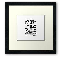 Doctor Who & Daleks Framed Print