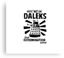 Doctor Who & Daleks Canvas Print