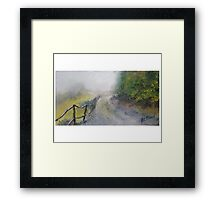 Impressionist Painting Fogging Fence Path by Pete Menocal Framed Print