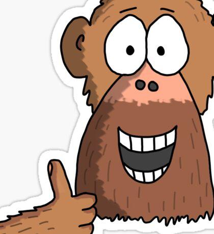 Thumbs Up Monkey Sticker