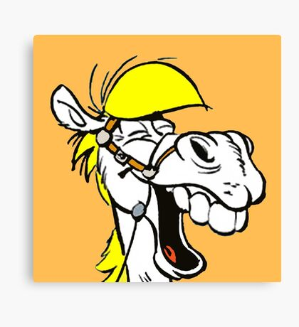 Lucky luke horse ha ha ha Canvas Print