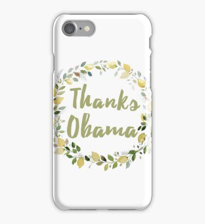Thanks Obama | Farewell Barack Obama Wreath iPhone Case/Skin