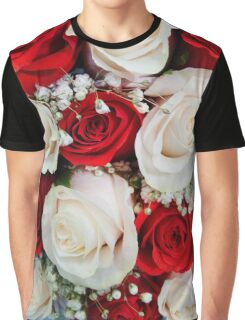 Red and white Roses Graphic T-Shirt