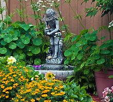 Backyard Garden Summer Scene  by Sandra Foster