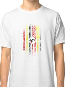 Uganda and America Flag Combo Distressed Design Classic T-Shirt