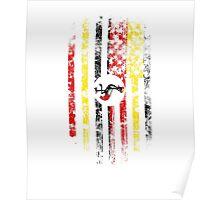 Uganda and America Flag Combo Distressed Design Poster