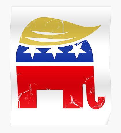 Donald Trump Republican Elephant Poster