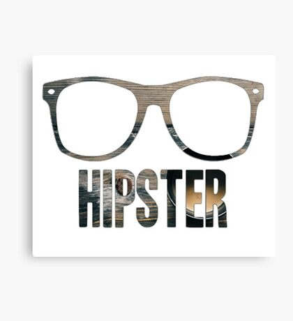 Hipster Glasses Canvas Print