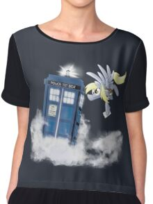 Derpy Tardis Delivery Chiffon Top