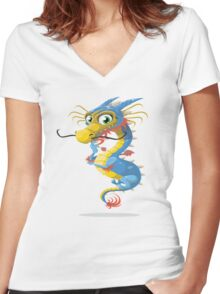 Master Dragon Women's Fitted V-Neck T-Shirt