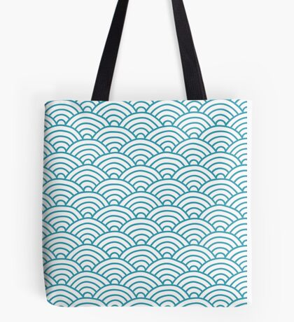 Pretty Turquoise Waves Tote Bag