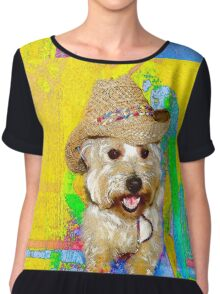 West Highland White Terrier - Ready To Go? Chiffon Top