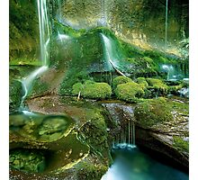 Mossy cascades, Walls of Jerusalem Photographic Print