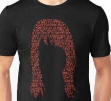 Hayley Williams hair word cloud Unisex T-Shirt