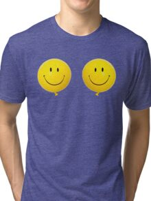 Happy Face Balloon All Smiles Tri-blend T-Shirt